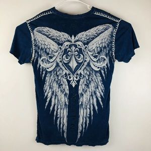 Affliction t-shirt Distressed Holes Wings